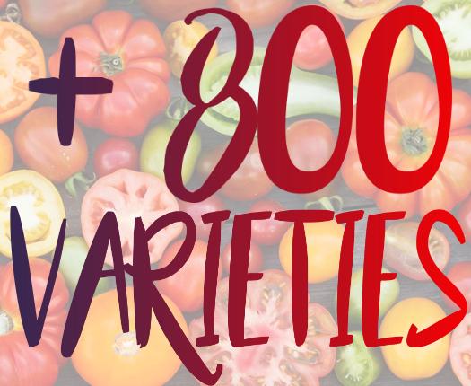 800 varieties